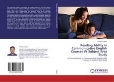 Bookcover of Reading Ability in Communicative English Courses Vs Subject Area Study