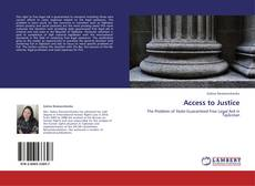 Bookcover of Access to Justice