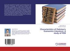 Bookcover of Characteristics of Pakistan's Economics Literature: A study of PDR