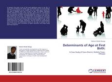 Couverture de Determinants of Age at First Birth: