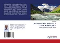 Bookcover of Deconstructive Discourse of Content as Reflected in