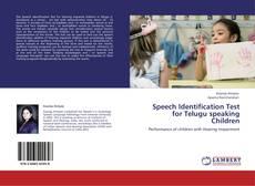 Обложка Speech Identification Test for Telugu speaking Children