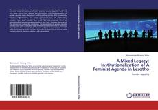 Bookcover of A Mixed Legacy: Institutionalization of A Feminist Agenda in Lesotho