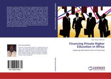 Обложка Financing Private Higher Education in Africa