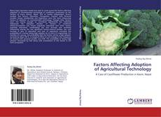 Buchcover von Factors Affecting Adoption of Agricultural Technology