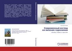 Bookcover of Современный взгляд на явление паронимии