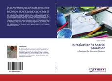Couverture de Introduction to special education