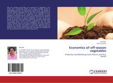Capa do livro de Economics of off-season vegetables