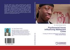 Bookcover of Psychosocial Issues Influencing Adolescent Crime