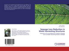 Buchcover von Seepage Loss Reduction in Water Harvesting Structures