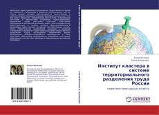Buchcover von Институт кластера в системе территориального разделения труда России