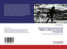 Capa do livro de Women Empowerment and MDGs in Africa: A Cultural Perspective