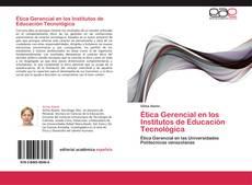 Bookcover of Ética Gerencial en los Institutos de Educación Tecnológica