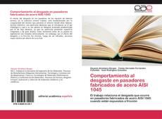 Portada del libro de Comportamiento al desgaste en pasadores fabricados de acero AISI 1045