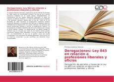 Buchcover von Derogaciones: Ley 843 en relación a profesiones liberales y oficios