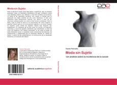 Bookcover of Moda sin Sujeto