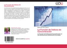 Bookcover of La Función de Índices de Concentración
