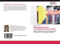 Copertina di Metodología de la investigación documental