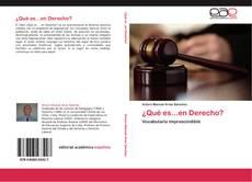 Portada del libro de ¿Qué es...en Derecho?