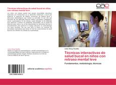 Capa do livro de Técnicas interactivas de salud bucal en niños con retraso mental leve