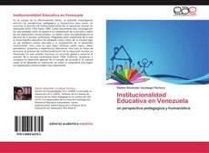 Buchcover von Institucionalidad Educativa en Venezuela