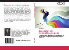 Portada del libro de Educación con   medios tecnológicos