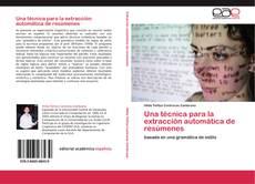 Capa do livro de Una técnica para la extracción automática de resúmenes
