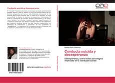 Conducta suicida y desesperanza kitap kapağı