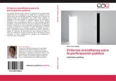 Portada del libro de Criterios arendtianos para la participación pública