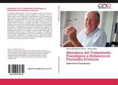 Portada del libro de Abandono del Tratamiento Psicológico a Distancia en Pacientes Crónicos