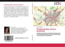 Bookcover of Profesionales versus profanos