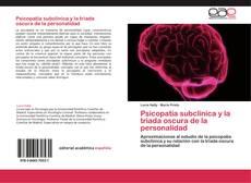 Psicopatía subclínica y la triada oscura de la personalidad的封面