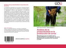 Portada del libro de Análisis de la productividad en la producción de arroz