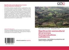 Обложка Significación sociocultural de procesos tecnoproductivos cafetaleros