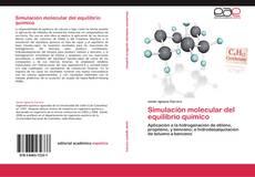 Portada del libro de Simulación molecular del equilibrio químico