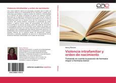 Buchcover von Violencia intrafamiliar y orden de nacimiento