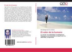 Portada del libro de El valor de lo humano