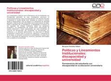 Portada del libro de Políticas y Lineamientos Institucionales: discapacidad y universidad