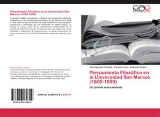 Bookcover of Pensamiento Filosófico en la Universidad San Marcos (1869-1909)