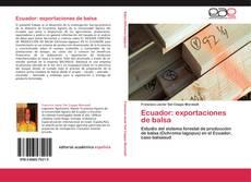 Ecuador: exportaciones de balsa kitap kapağı
