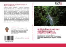 Portada del libro de Análisis Químico de dos Aspidospermas en Allpahuayo-Mishana