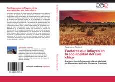 Buchcover von Factores que influyen en la sociabilidad del cuis chico