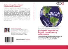 La ley del español en Brasil: reacciones y reflexiones kitap kapağı