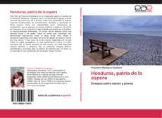 Honduras, patria de la espera kitap kapağı