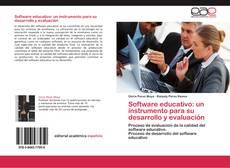 Bookcover of Software educativo: un instrumento para su desarrollo y evaluación