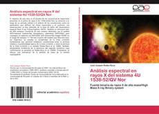 Bookcover of Análisis espectral en rayos X del sistema 4U 1538-52/QV Nor