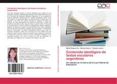 Contenido ideológico de textos escolares argentinos kitap kapağı