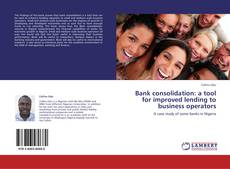 Обложка Bank consolidation: a tool for improved lending to business operators