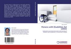 Bookcover of Persons with Disabilities Act (2003)