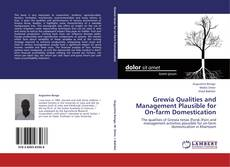Capa do livro de Grewia Qualities and Management Plausible for On-farm Domestication